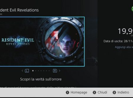 Resident Evil Revelations 1 e 2: svelati i filesize dei due titoli su Nintendo Switch