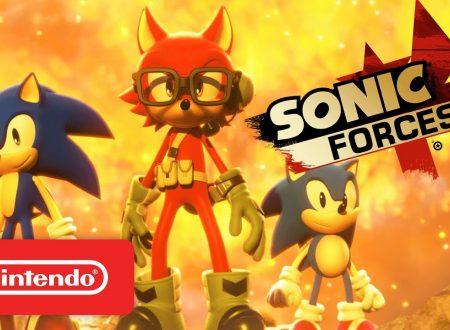 Sonic Forces: pubblicato il trailer di lancio americano del titolo in arrivo su Nintendo Switch