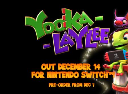 Yooka-Laylee: il titolo è finalmente in arrivo il 14 dicembre su Nintendo Switch
