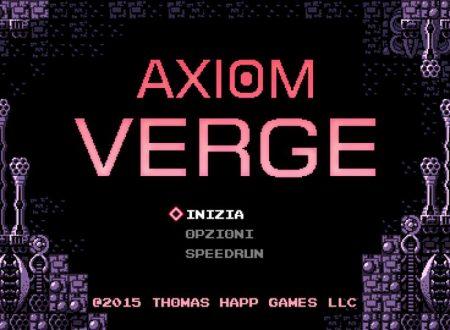 Axiom Verge: il titolo ora aggiornato alla versione 1.0.3 sui Nintendo Switch europei