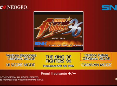 ACA NEOGEO The King of Fighters '96, uno sguardo in video al titolo dai Nintendo Switch europei
