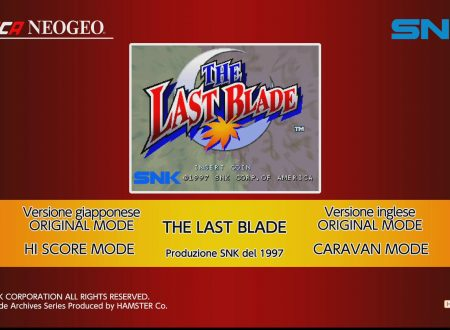 ACA NEOGEO The Last Blade: uno sguardo in video al titolo dai Nintendo Switch europei