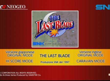 ACA NEOGEO The Last Blade: uno sguardo in video al titolo dai Nintendo Switch europei