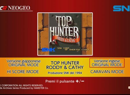 ACA NEOGEO Top Hunter: Roddy & Cathy: uno sguardo in video al titolo dai Nintendo Switch europei
