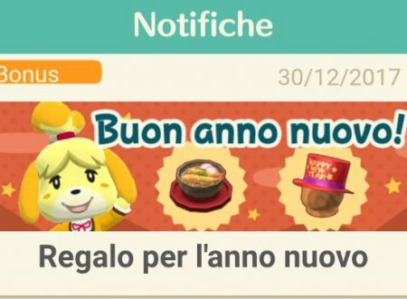 Animal Crossing: Pocket Camp, il cappello Capodanno rosso e la zuppa di capodanno, distribuiti come regali dal Fermoposta
