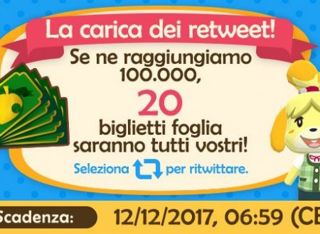 "Animal Crossing: Pocket Camp, svelato l'evento ""La carica dei retweet"" su Twitter"