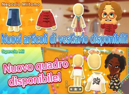 Miitomo: i nuovi indumenti del 8 dicembre nel minigioco Sgancia Mii e nel negozio