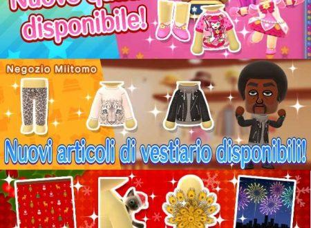 Miitomo: regali di natale e nuovi indumenti del 15 dicembre nel minigioco Sgancia Mii e nel negozio