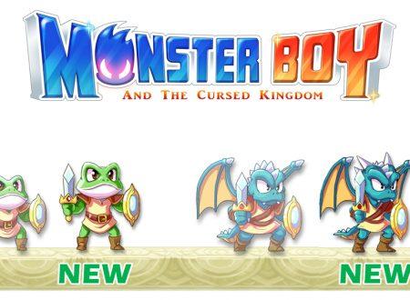 Monster Boy and the Cursed Kingdom, svelata l'ottimizzazione degli sprite del Drago e della Rana