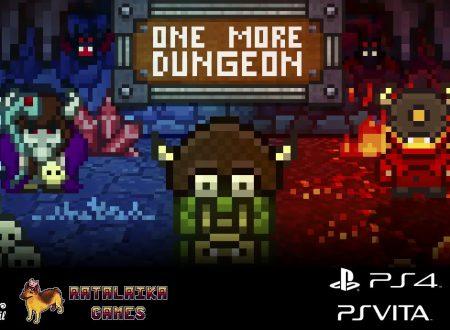 One More Dungeon: pubblicato il trailer di lancio del titolo in arrivo su Nintendo Switch