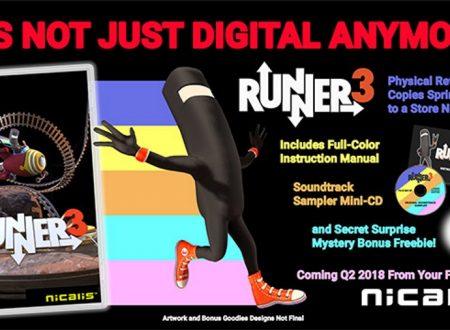Runner3: rivelati i dettagli sulla Launch Edition americana del titolo