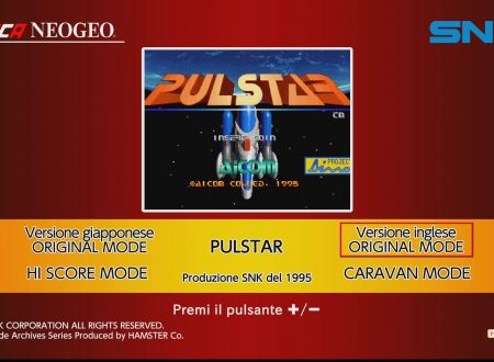 ACA NEOGEO PULSTAR: uno sguardo in video al titolo dai Nintendo Switch europei