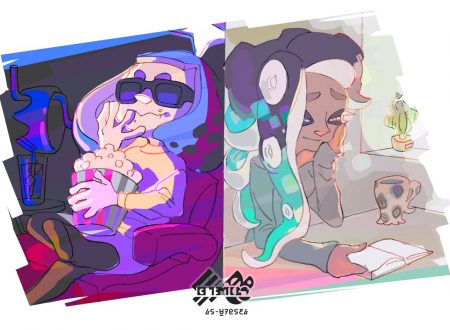 Splatoon 2: mostrato l'artwork ufficiale dello Splatfest europeo, Film vs. Libri