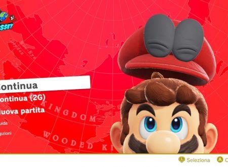 Super Mario Odyssey: il titolo aggiornato alla versione 1.1.0 sui Nintendo Switch europei