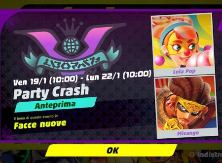 ARMS: svelato il quarto Party Crash, Facce nuove, Lola Pop vs. Misango