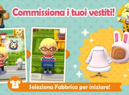 Animal Crossing: Pocket Camp, ora disponibile la creazione di capi di abbigliamento da Agostina