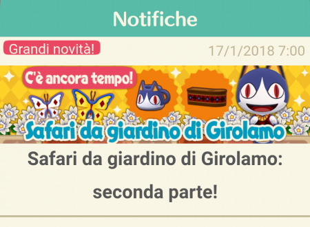 Animal Crossing: Pocket Camp, ora disponibile la seconda parte del Safari da giardino di Girolamo