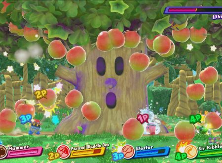 Kirby Star Allies: un nuovo video mostra la Boss Fight con Whispy Woods