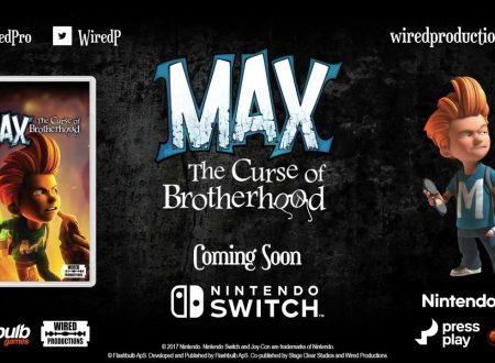 Max: The Curse of Brotherhood, annunciata la versione retail del titolo per Nintendo Switch