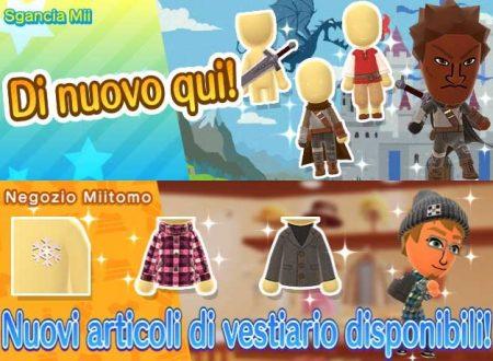 Miitomo: i nuovi indumenti del 26 gennaio nel minigioco Sgancia Mii e nel negozio