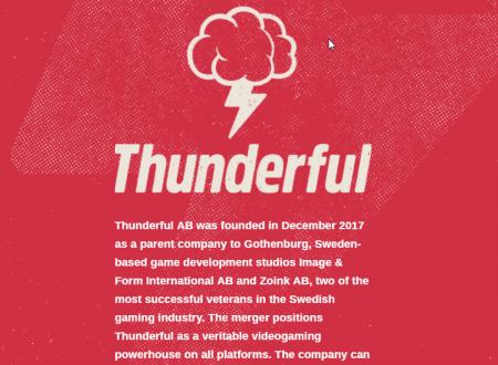 Thunderful: nasce un nuovo studio con la fusione tra Image & Form Games e Zoink Games
