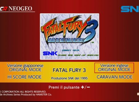 ACA NEOGEO FATAL FURY 3, uno sguardo in video al titolo dai Nintendo Switch europei