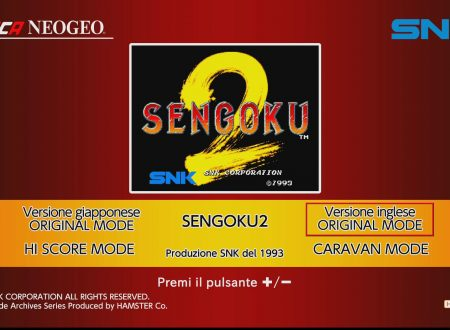ACA NEOGEO SENGOKU 2: uno sguardo in video al titolo dai Nintendo Switch europei