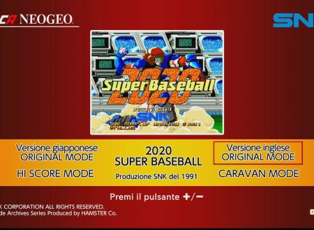 ACA NEOGEO SUPER BASEBALL 2020, uno sguardo in video al titolo dai Nintendo Switch europei