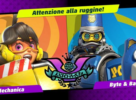 ARMS: uno sguardo in video al sesto Party Crash: Attenzione alla ruggine, Mechanica vs. Byte & Barq