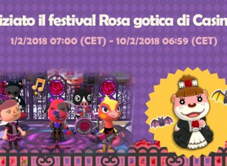 Animal Crossing: Pocket Camp, disponibile la seconda parte del Festival Rosa gotica di Casimira