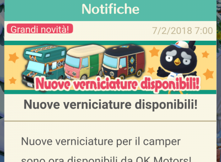Animal Crossing: Pocket Camp, nuove verniciature per il camper, ora disponibile da OK Motors