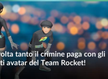 Pokèmon GO: gli outfit del Team Rocket e Team Rainbow Rocket, ora disponibili per l'avatar