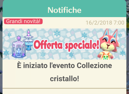 Animal Crossing: Pocket Camp, ora disponibile l'evento, Collezione cristallo