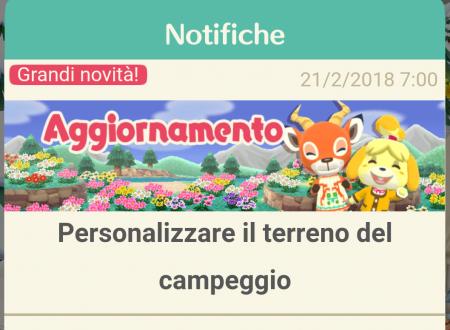 Animal Crossing: Pocket Camp, disponibile la personalizzazione del terreno del proprio campeggio