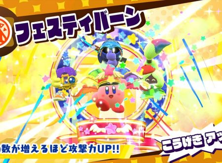"""Kirby Star Allies: mostrate nuove immagini della nuova trasformazione """"Festival"""" di Kirby"""