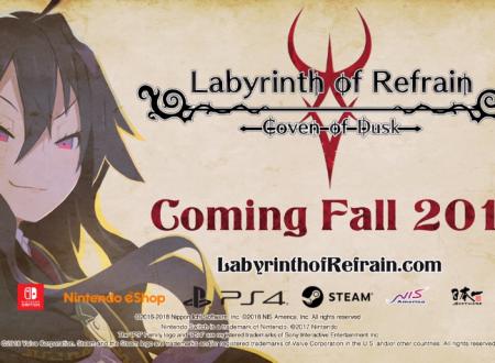 Labyrinth of Refrain: Coven of Dusk, il titolo è in arrivo in Autunno su Nintendo Switch
