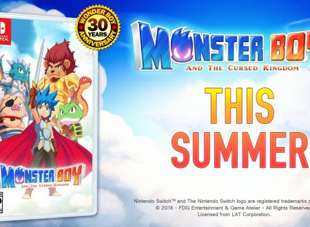 Monster Boy and the Cursed Kingdom, il titolo è in arrivo anche in formato retail su Nintendo Switch