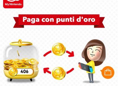 My Nintendo: è ora possibile utilizzare i punti d'oro per pagare sull'eShop di Nintendo Switch