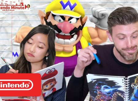 Nintendo Minute: Wario's Wacky Word Challenge in video con Kit e Krysta
