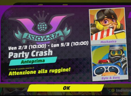ARMS: svelato il sesto Party Crash: Attenzione alla ruggine, Mechanica vs. Byte & Barq