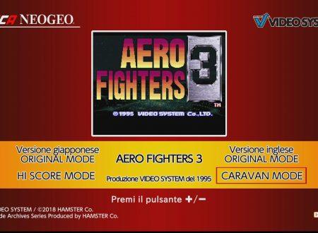 ACA NEOGEO AERO FIGHTERS 3, uno sguardo in video dai Nintendo Switch europei