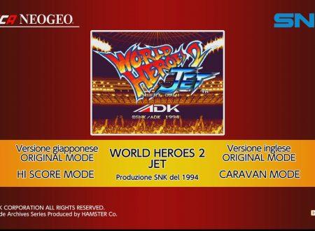 ACA NEOGEO WORLD HEROES 2 JET, sguardo in video al titolo dai Nintendo Switch europei