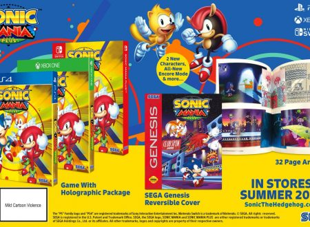 Annunciato Sonic Mania Plus, in arrivo in estate con Mighty the Armadillo e Ray the Flying Squirrel