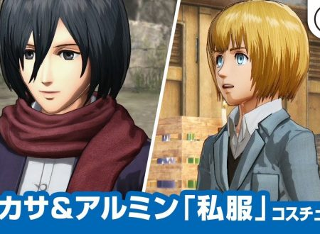 Attack on Titan 2: Future Coordinates, un nuovo video mostra i vestiti da civili di Mikasa e Armin