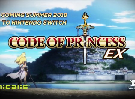 Code of Princess EX: il titolo annunciato ed in arrivo in estate su Nintendo Switch