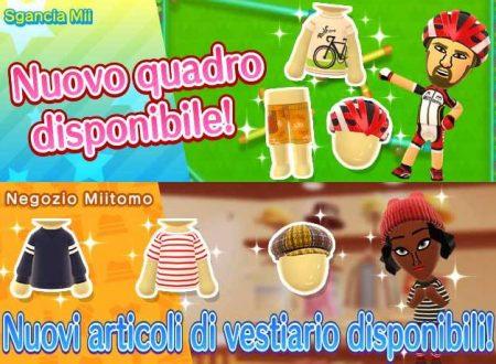 Miitomo: i nuovi indumenti del 16 marzo nel minigioco Sgancia Mii e nel negozio