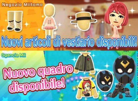 Miitomo: i nuovi indumenti del 9 marzo nel minigioco Sgancia Mii e nel negozio