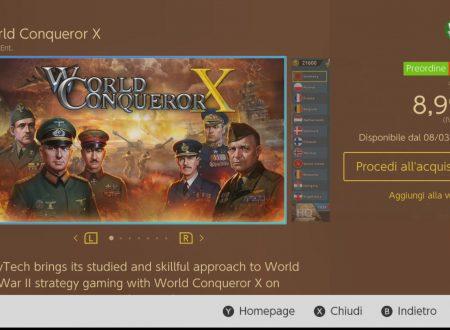 World Conqueror X: il titolo è ora in pre-download sull'eShop di Nintendo Switch