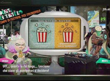 Splatoon 2: svelato il nuovo Splatfest europeo, i popcorn vanno con il sale o con lo zucchero?