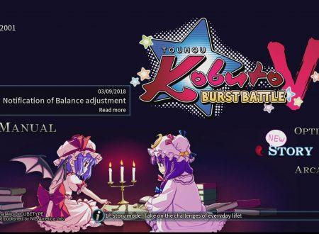 """Touhou Kobuto V: Burst Battle, pubblicato il video sul DLC """"Chibi-Chara""""del titolo"""